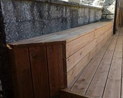 Terrasse douglas à Germagny