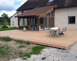 Menuiserie Sentilienne - Santilly - Terrasse bois